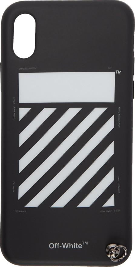Off White Black Diag iPhone X Strap Case