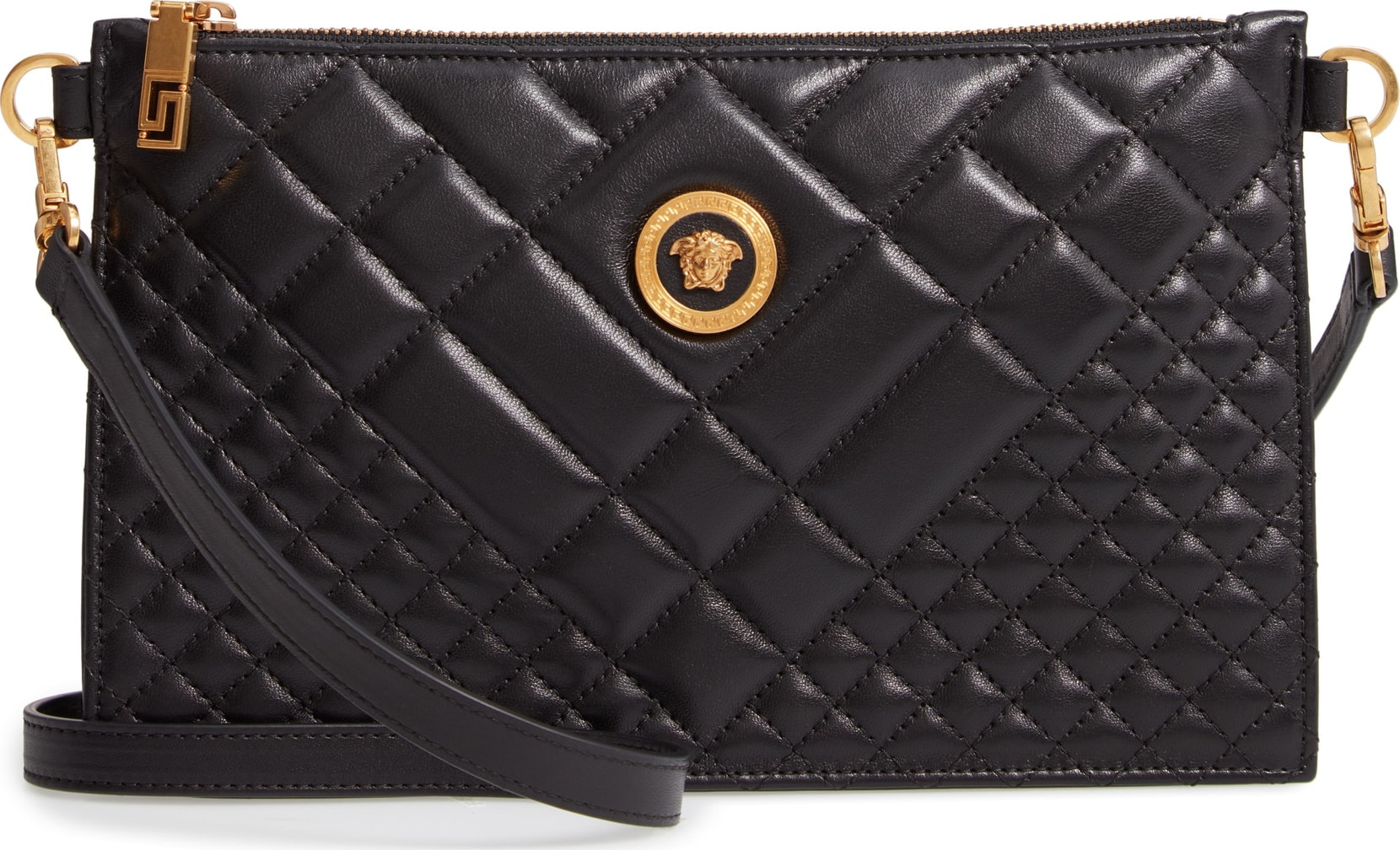 b664414f6f Versace Tribute Icon Quilted Leather Pouch - Mkt
