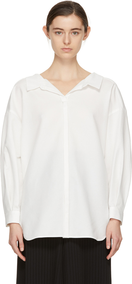 Enfold White Twisted Shirt