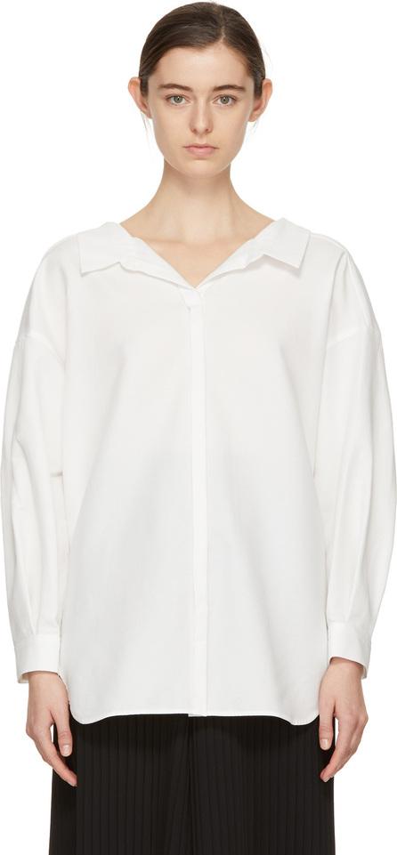 Enfold White Twisted Shirt