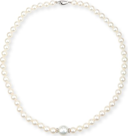 Belpearl Aura 18K White Gold Pearl & Diamond Necklace