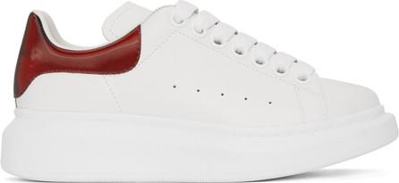 Alexander McQueen White & Red Iridescent Oversized Sneakers