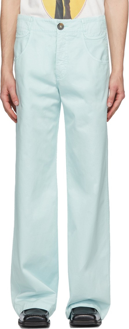 Telfar Blue 6-Pocket Trousers