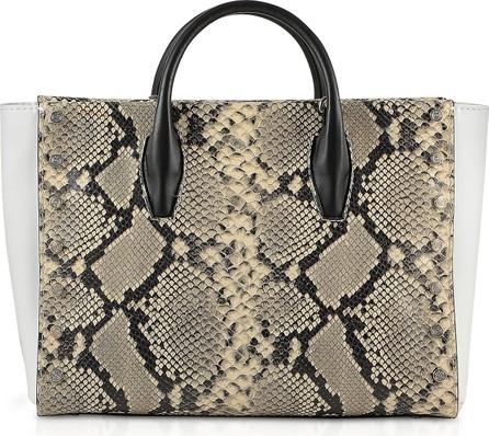 Baldinini Python Embossed Eco-Leather Tote Bag