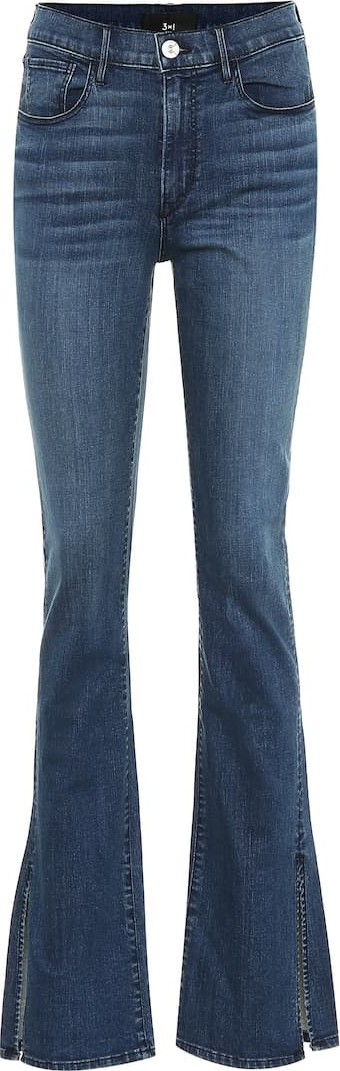 3X1 W3 Split Seam Bell high-rise jeans