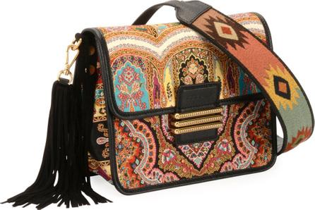Etro Rainbow Paisley Tassel Shoulder Bag