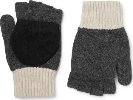 Oliver Spencer Oli's Colour-Block Wool-Blend Fingerless Gloves
