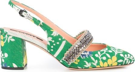 ROCHAS Patterned slingback sandals