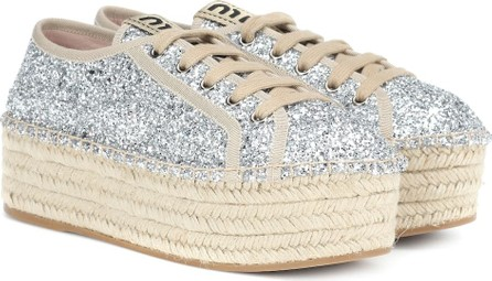 Miu Miu Glitter espadrille sneakers
