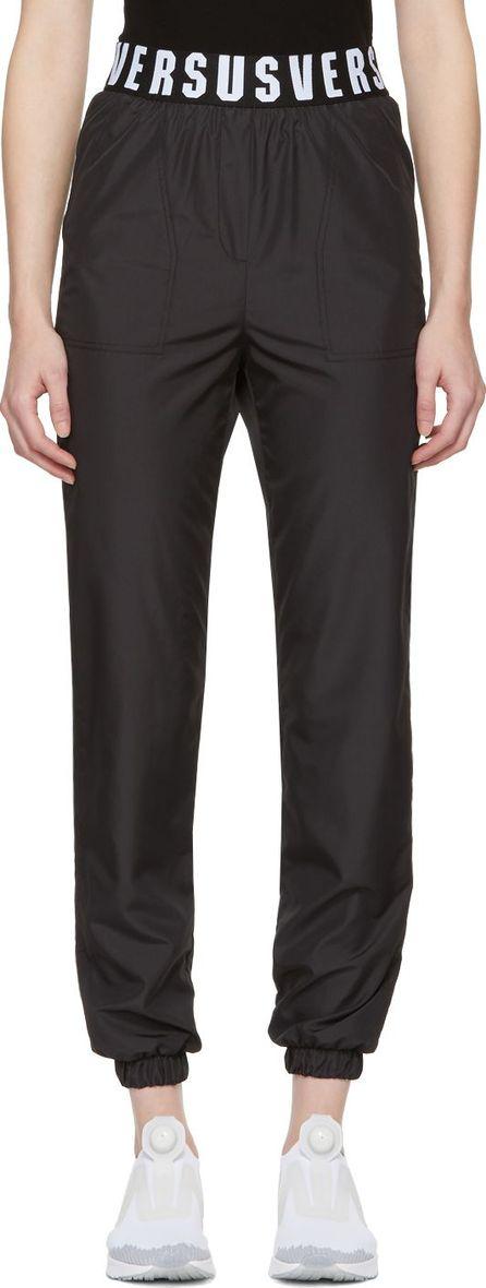 Versus Versace Black Logo Track Lounge Pants