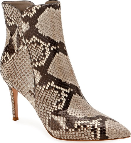 bd5e2aae65bc Gianvito Rossi Levy Notched Leather 85mm Booties