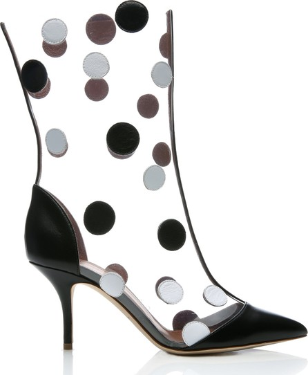Malone Souliers x Emanuel Ungaro Katoucha Polka-Dot Leather And PVC Boots
