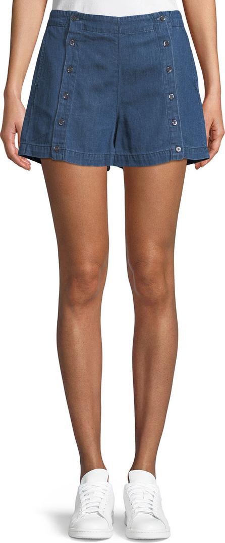 3X1 Amy Button Denim Shorts
