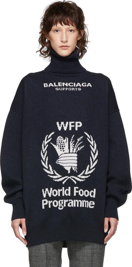 Balenciaga Navy & White World Food Programme Turtleneck