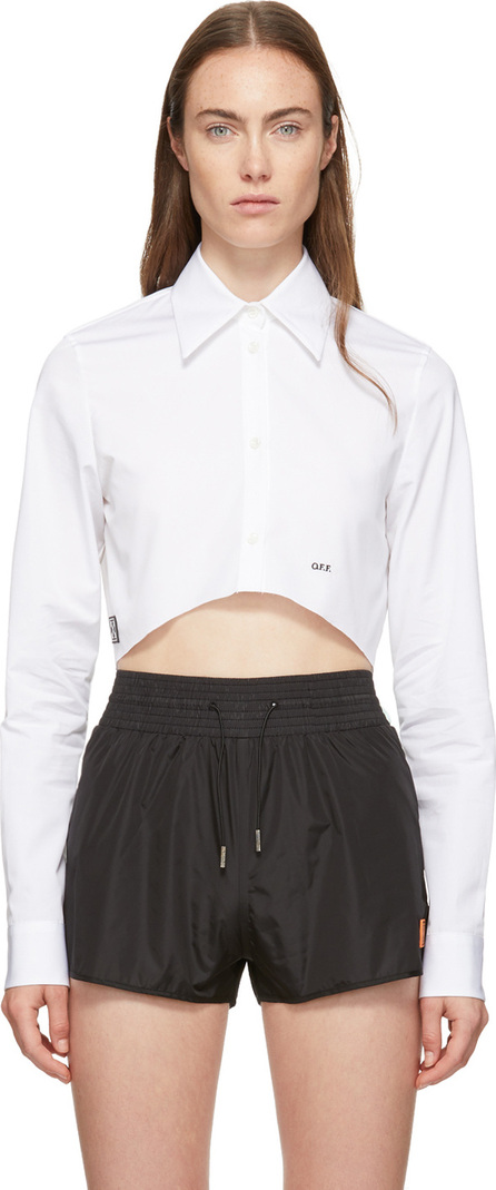 Off White White Cropped Shirt