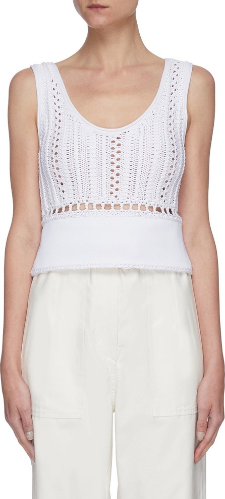 3.1 Phillip Lim Crochet nylon tank top