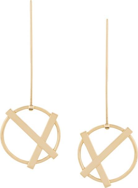 Eshvi cross circle earrings