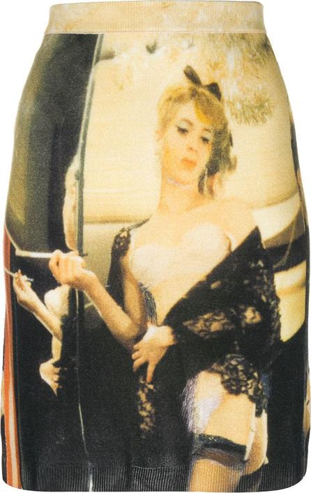 Moschino Printed stretch skirt