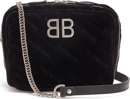 Balenciaga 'BB Reporter' XS matelassé velvet crossbody bag