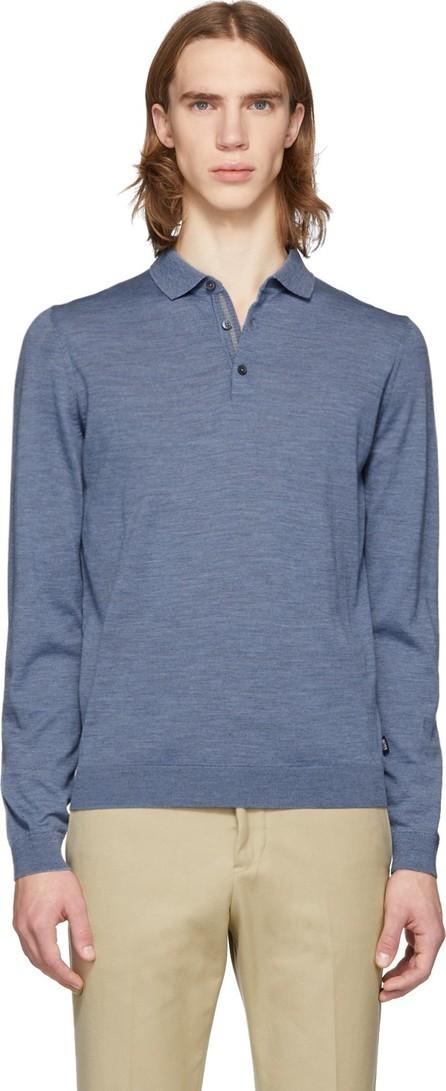 BOSS Hugo Boss Blue Merino Wool Polo