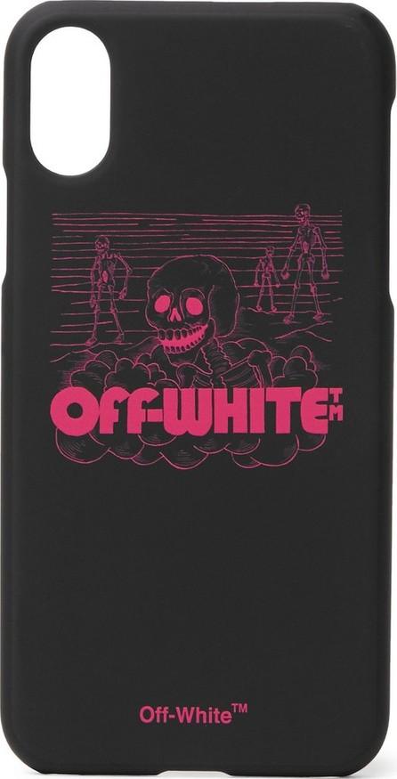 Off White Logo-Print iPhone X Case