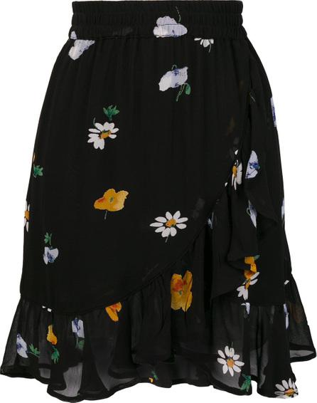Ganni Floral ruffle mini skirt