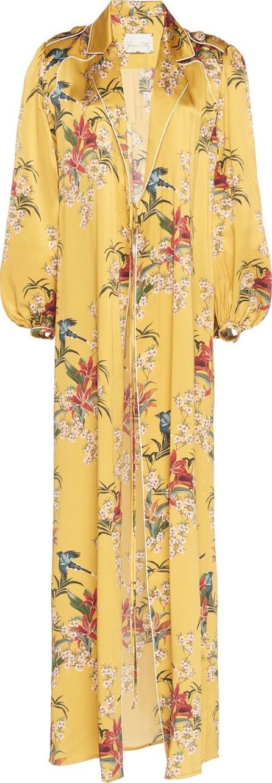 Johanna Ortiz Flower Queen Printed Silk-Satin Robe