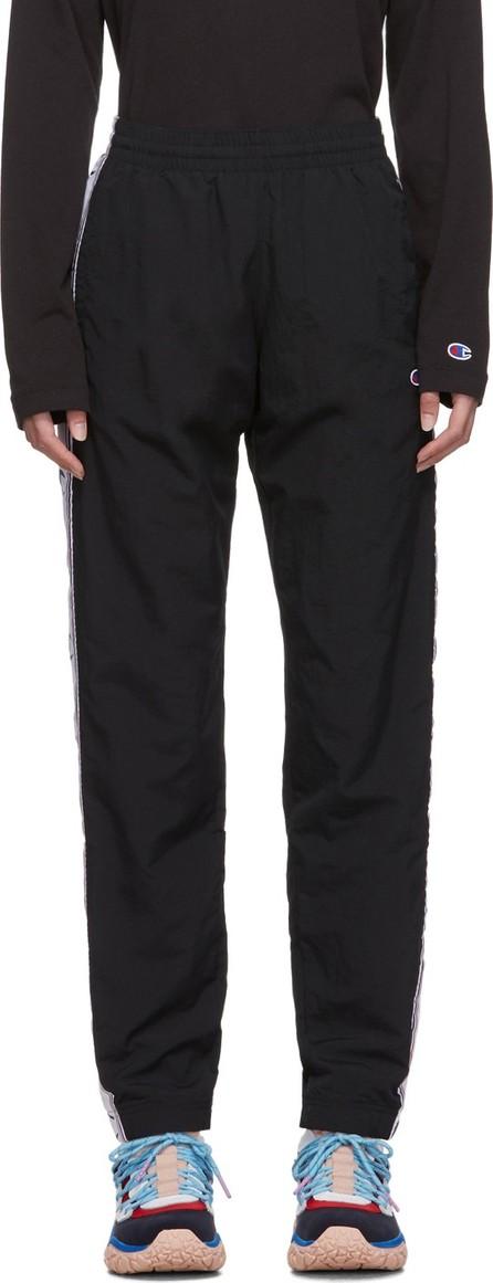 Champion Reverse Weave Black Nylon Elastic Cuff Track Pants