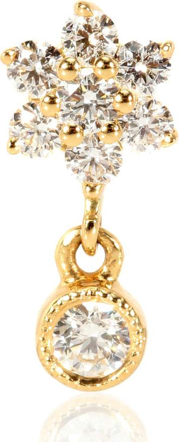 Maria Tash Diamond Flower Traditional 18kt gold single earring