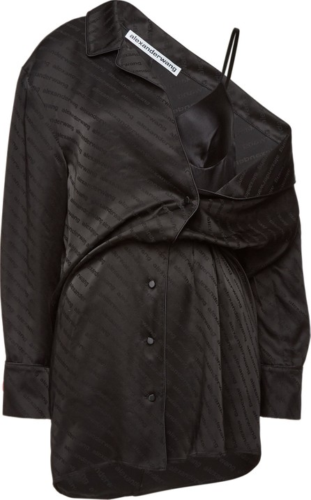 Alexander Wang Asymmetric Shirt Dress with Lace