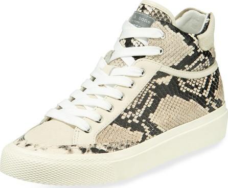 Rag & Bone Army Printed Leather High-Top Sneakers