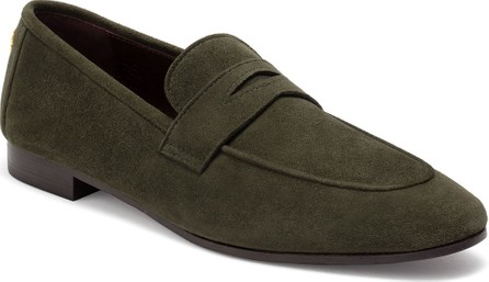 Bougeotte Suede Flat Penny Loafers