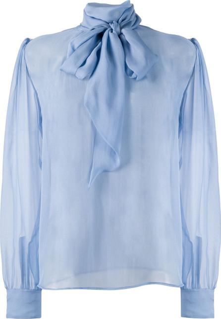 Saint Laurent Pussy-bow silk blouse