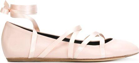 Lanvin lace-up ballerina shoes