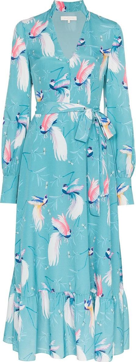 Borgo De Nor Bird printed belted long dress