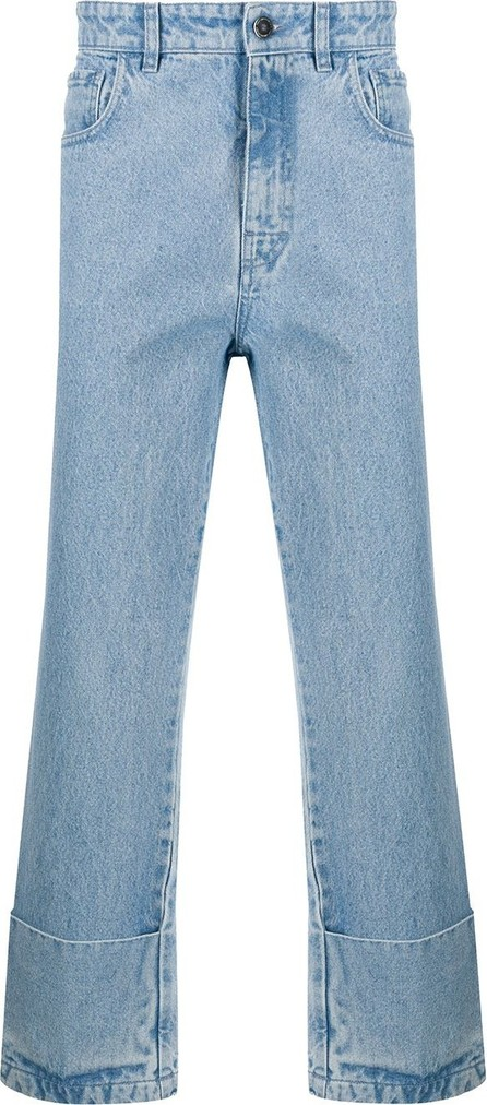 Raf Simons Turn-up cuffs straight-leg jeans