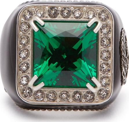Gucci Crystal-embellished signet ring