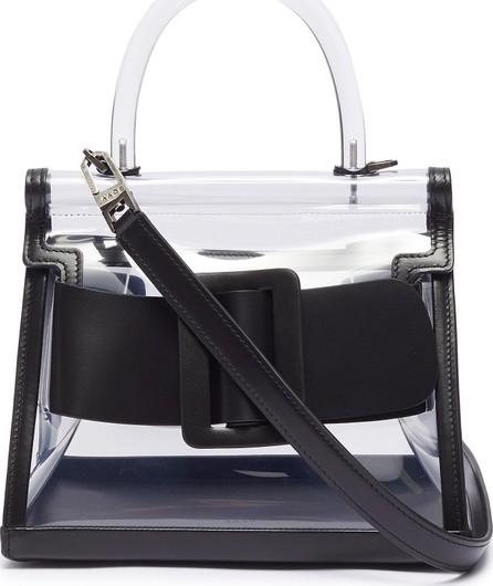 BOYY 'Karl 24' buckled leather trim PVC satchel