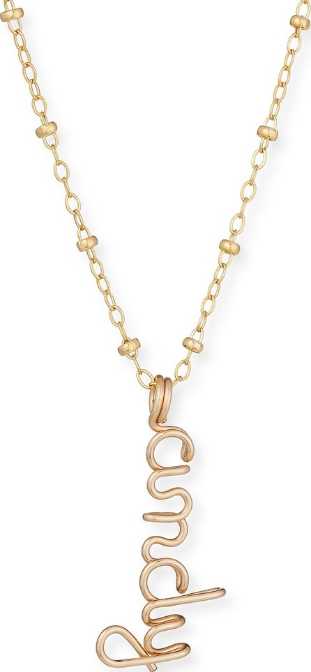 Atelier Paulin Personalized Beaded Necklace w/ Wire Pendant  1-5 Letters