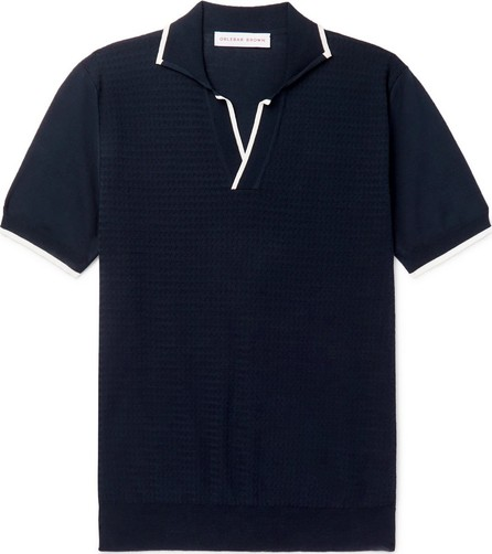 Orlebar Brown Horton Slim-Fit Contrast-Tipped Knitted Cotton Polo Shirt
