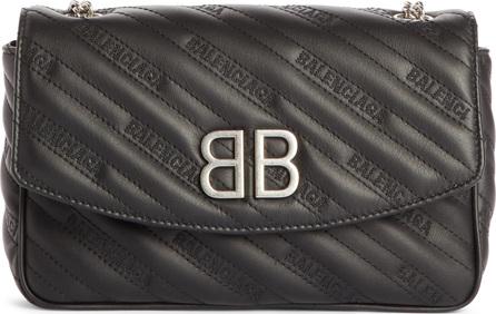 Balenciaga BB Matelassé Quilted Wallet on a Chain