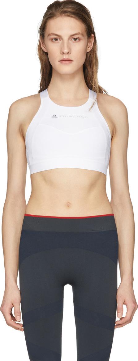 Adidas By Stella McCartney White Performance Essentials Bra