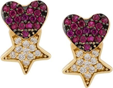 Anton Heunis star & heart earrings