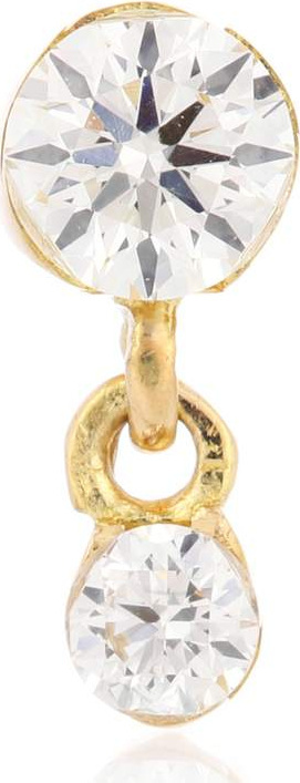 Maria Tash Invisibly Set Diamond Eternity Ring 18kt gold and diamond earring
