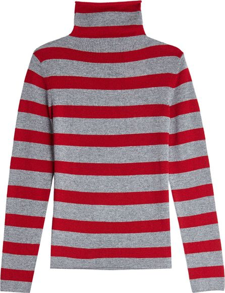81hours Striped Cashmere Turtleneck Pullover
