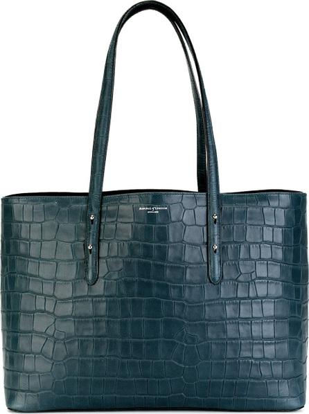 Aspinal of London textured tote bag