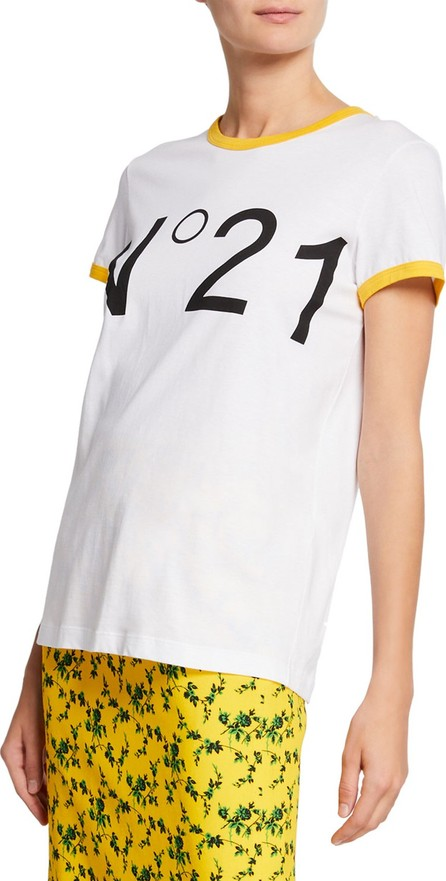Nº21 Logo T-Shirt with Contrast Trim