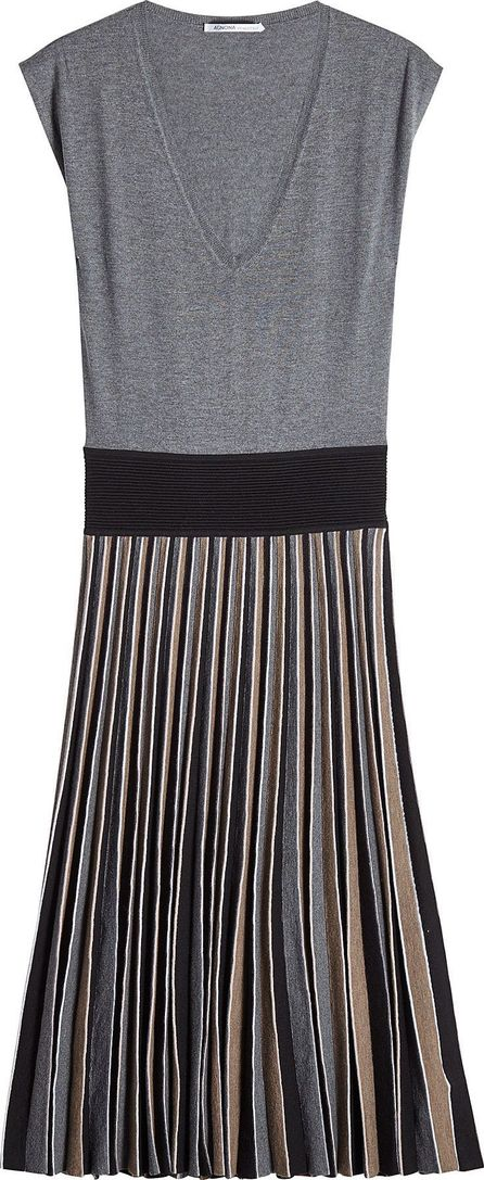 Agnona Wool Dress with Pleated Skirt