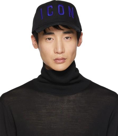 DSQUARED2 Black & Blue 'Icon' Baseball Cap