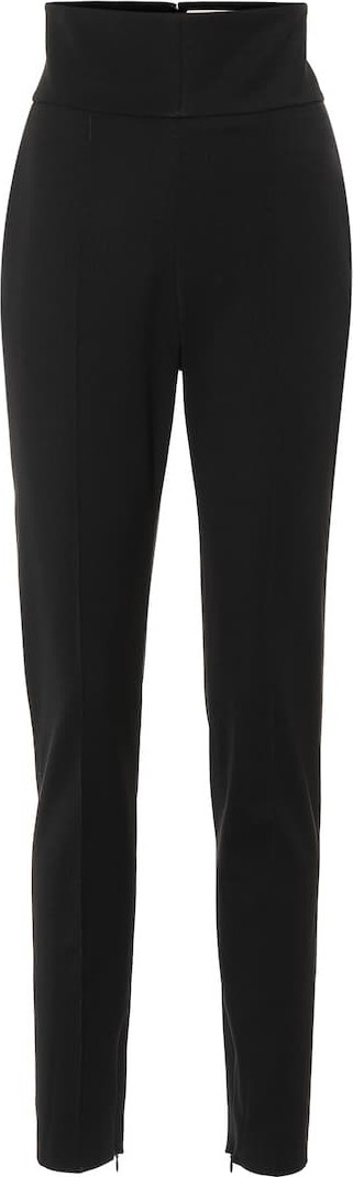Alexandre Vauthier High-rise stretch wool pants